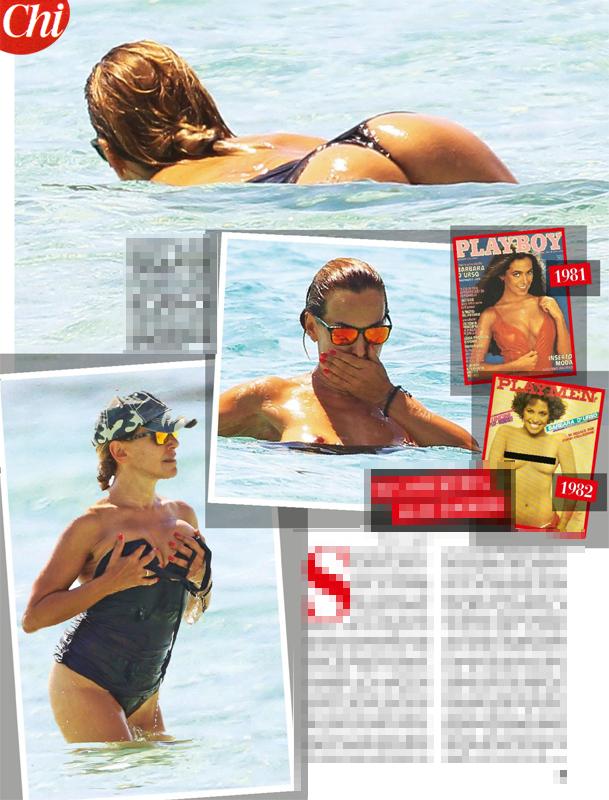Barbara d'Urso in topless a Formentera