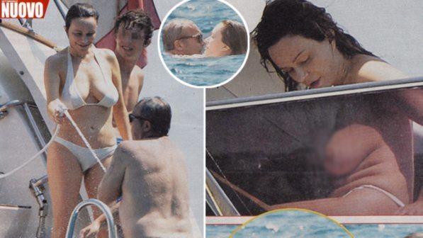 Francesca Neri, topless al top a 52 anni in barca con Claudio Amendola e il figlio Rocco